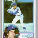 Ryne Sandberg RC 1983 Topps #83 Cubs HOF Rookie