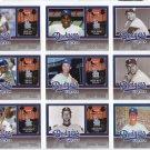 Dodgers 2006 Fleer Greats of the Game Dodgers Greats Complete Set 1-10