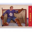 Ed Chadwick 1957 Parkhurst #T2 Rookie RC Maple Leafs  Tough Pull!