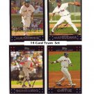 2007 Red Sox Team Set (14 Cards) Ortiz, Manny, Schilling Beckett