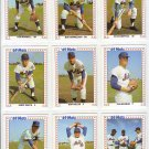 "1987 TCMA ""Baseball's Greatest Teams"" 1969 'Miracle' Mets Complete set (9)"