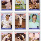 "1987 TCMA ""Baseball's Greatest Teams"" 1961 Yankees Complete set (9) Mantle Maris Ford Berra"