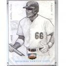 Yasiel Puig #1/1 2013 Super Box Rookies and Phenoms Original Sketch Card Dodgers