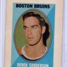 Derek Sanderson 1970-71 Topps/OPC Hockey Sticker #27 Bruins