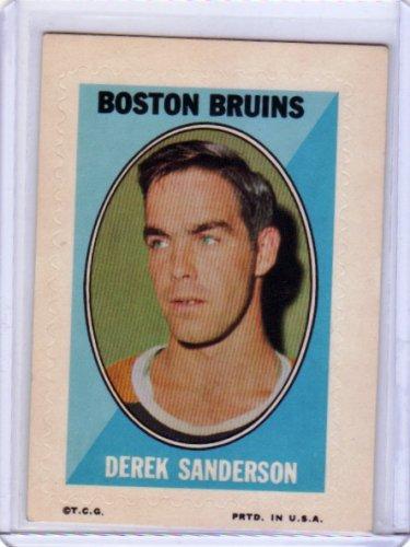 Derek Sanderson 1970-71 Topps/OPC Hockey Sticker #27 Bruins