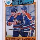 Wayne Gretzky 1983-84 O-Pee-Chee #23 Wayne Gretzky & Mark Messier Edmonton Oilers, Kings, Rangers