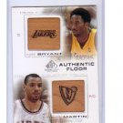 Kobe Bryant 2000-01 SP Game Floor Edition Authentic Floor Combos #C19 Lakers