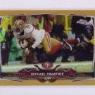 Michael Crabtree #/50 2014 Topps Chrome Gold Refractor #32 49ers, Raiders
