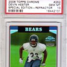 Devin Hester RC PSA 10 Gem Mint 2006 Topps Chrome Special Edition Refractor Rookie #252 Bears
