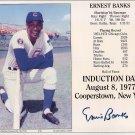 Ernie Banks Signed Autographed Hall of Fame Induction Card 8x10 Cubs HOF