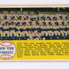 1958 Topps #246 New York Yankees Team  Unmarked