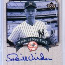 Bill Virdon 2003 Upper Deck Yankees Signature Series Pride of New York Autographs #PN-BV