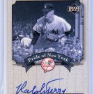 Ralph Terry 2003 Upper Deck Yankees Signature Series Pride of New York Autographs #PN-RT
