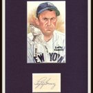 Lefty Gomez Autographed Signature Matted Display HOF Pre-certified by PSA/DNA New York Yankees