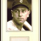 Earl Averill Autographed Matted Display HOF Pre-certified by PSA/DNA Indians