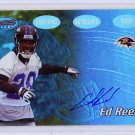 Ed Reed RC Auto 2002 Bowman's Best Certified Autograph Issue #133 Ravens, Future HOF