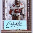 Derrick Brooks HOF Auto 2005 Playoff Contenders Autograph #93  Buccaneers, Bucs, HOF