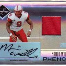 Mario Williams RC Auto /25 2006 Leaf Limited Spotlight Phenoms Autographed Jersey #251 Bills, Texans