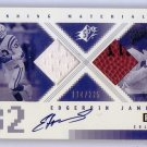 Edgerrin James Auto G/U Ball 2000 SPx Winning Materials Autograph /225 Colts