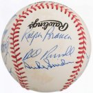 Brooklyn Dodgers Greats Autographed Official NL Baseball Branca, Erskine, Roe, Snider, Don Zimmer