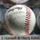 Ernie Harwell & Harry Kalas HOF Autographed Signed Rawlings Baseball Hall of Fame