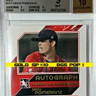 Drew Pomeranz Auto #/10 BGS POP 1 2011  ITG Heroes Prospects Gold Red Sox