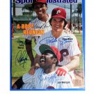 Big Red Machine HOF Signed 1983 SI Cover Pete Rose, Bench, Morgan, Concepcion Perez