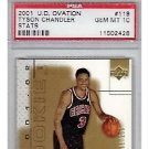 Tyson Chandler RC #/250 Knicks, Bulls, Mavs 2001-02 UD Ovation Stats #119