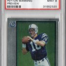 Peyton Manning RC 1998 Bowman Chrome Preview #BCP 1 Broncos, Colts PSA 9 Mint
