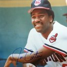 Joe Carter Signed Autographed 8 x 10 MLB color photo  Indians, Blue Jays 2x World Series Champion