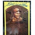 Eddie Mathews HOF Autographed Signed Yellow Hall of Fame Plaque Postcard Braves