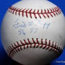 Brooklyn Dodgers Fred Kipp Signed Autographed Official MLB Baseball (Selig) w/ Inscription