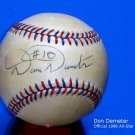 Brooklyn Dodgers Don Demeter Signed Autographed Official 1996 MLB All Star Baseball