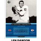 Len Dawson Auto 2005 UD Signature Portraits #SP-41 HOF Autographed 8x10 Chiefs