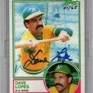 Davey Lopes Auto #01/65 Topps Originals 2004 Signature Edition Autograph Dodgers, A's