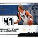 Dirk Nowitzki 2001-02 Fleer EX Behind the Numbers  Game-worn Jersey Mavericks