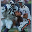 Dan Marino 1996 Edge TimeWarp #12 Deacon Jones Rams HOF Dolphins #/500