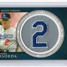 Tommy Lasorda HOF 2012 Topps Commemorative Retired Number Patch #RN-TL Dodgers