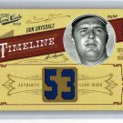 Don Drysdale #/53 HOF 2012 Playoff Prime Cuts Timeline Jersey Number Materials #18 Dodgers