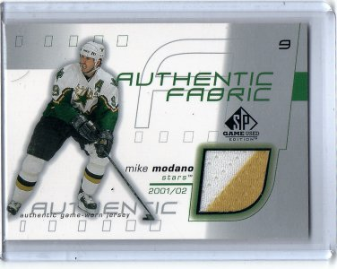 Mike Modano HOF 2001-02 SP Game Used Edition Authentic Fabric #AF-MM Stars