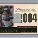Paul Molitor 2004 Topps Tribute Hall of Fame Tribute Relic #TR-PM  Brewers, HOF