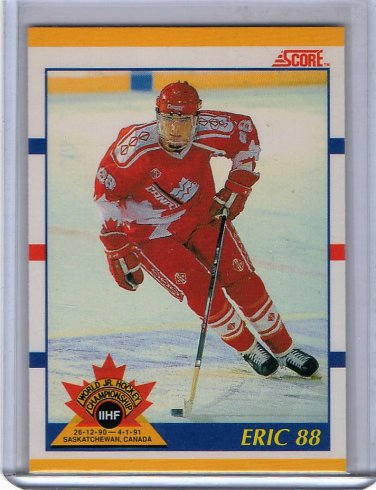 Eric Lindros HOF 1991 Score Traded #88t RC World Jr., Flyers