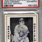 Vince DiMaggio Autograph Signed 1979 Wallin Diamond Greats #211 PSA/DNA Certified Authentic