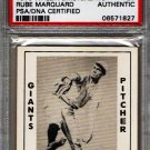 Rube Marquard Signed 1979 Wallin Diamond Greats #26 PSA/DNA Certified Authentic Autograph HOF Giants