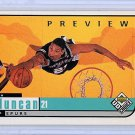 Tim Duncan  1998-99 Upper Deck UD Choice Preview #126 Spurs