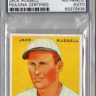 Jack Russell PSA/DNA Signed 1933 Goudey Reprint Authentic Autograph - PSA/DNA Certified Red Sox