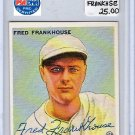 Fred Frankhouse Signed 1933 Goudey Reprint Authentic Autograph Boston Braves