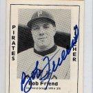 Bob Friend Signed 1979 Wallin Diamond Greats #375 Authentic Autograph Pirates