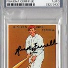 Rick Ferrell PSA/DNA Signed 1933 Goudey Reprint Authentic Autograph - HOF Red Sox, PSA/DNA Certified