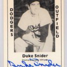 Duke Snider Signed 1979 Wallin Diamond Greats #94 Authentic Autograph Brooklyn Dodgers HOF